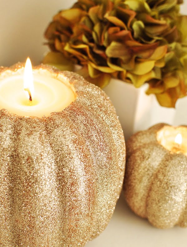 How to make #DIY pumpkin candle holders #homedecor