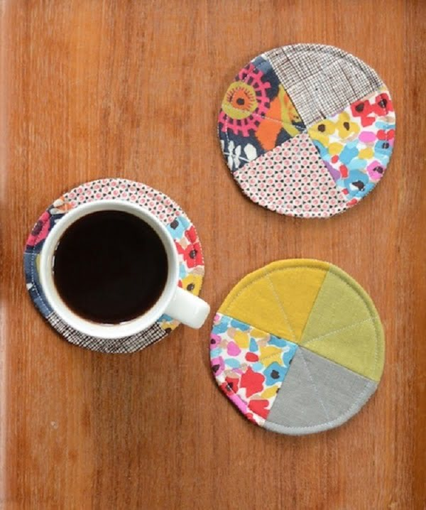 How to make  quilted coasters