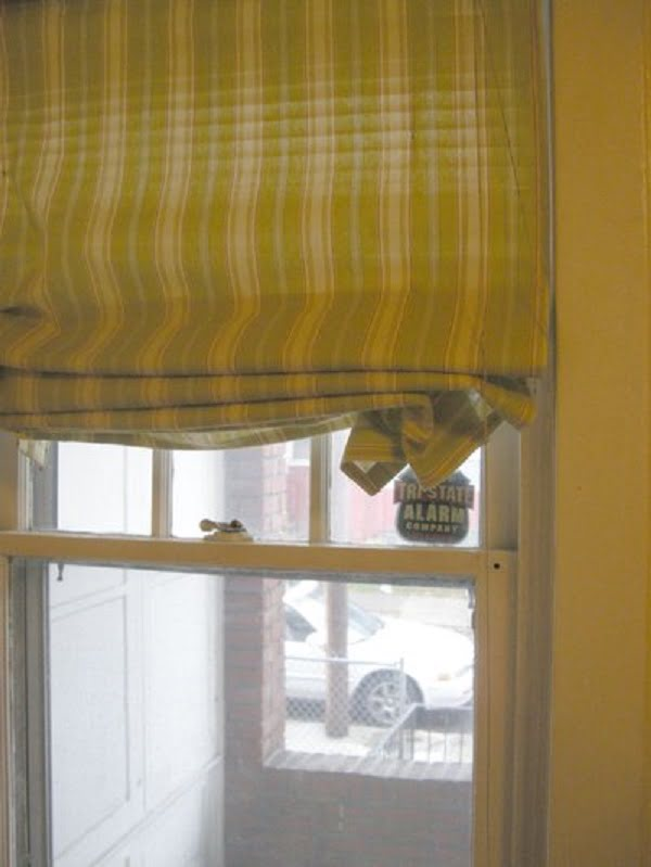 How to make  Roman shades from old blinds