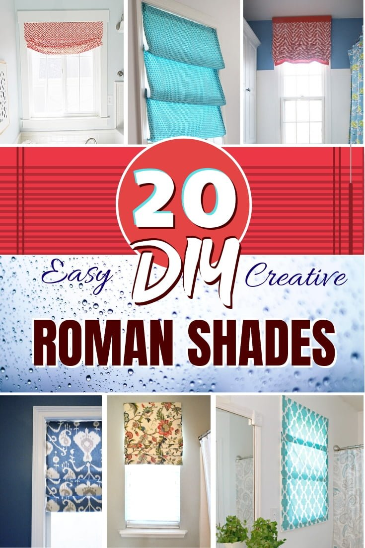 You can build your own DIY roman shades and save instead of buying. Here's a great list of 20 easy and creative DIY roman shades with tutorials! #DIY #homedecor