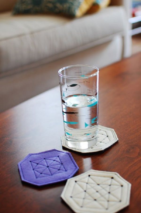 How to make  coasters using screw punch