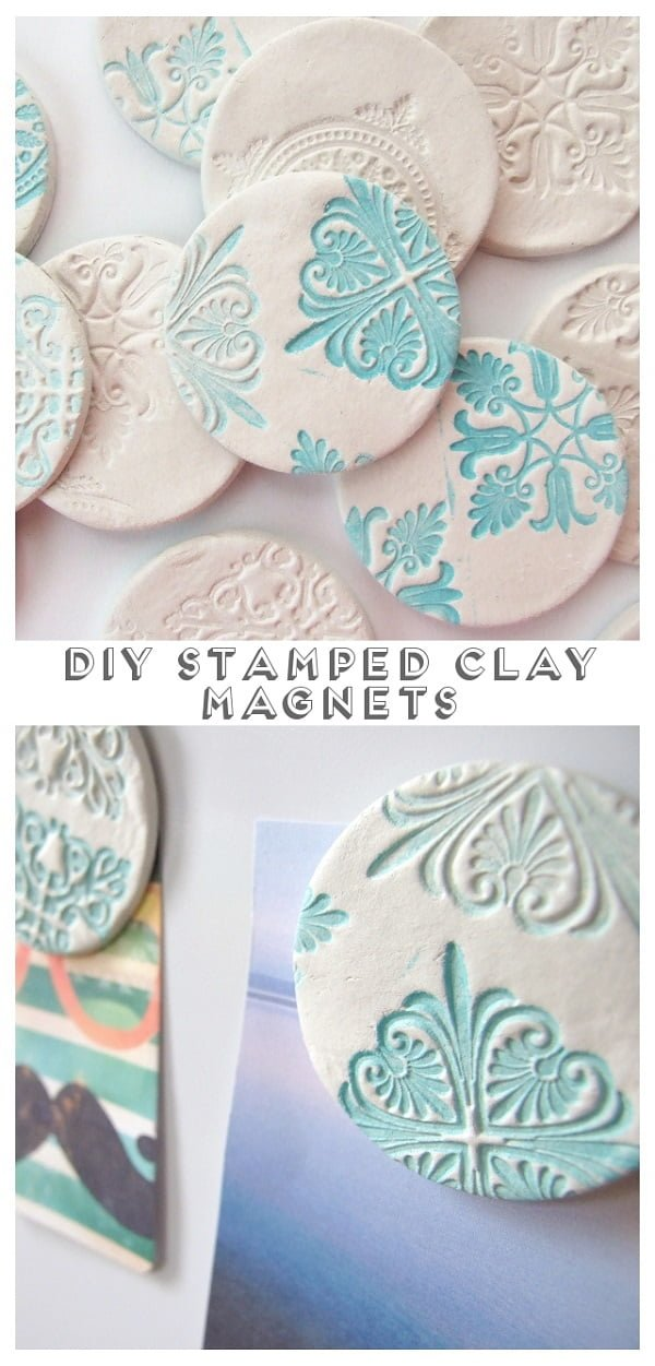 How to make  stamped clay coasters