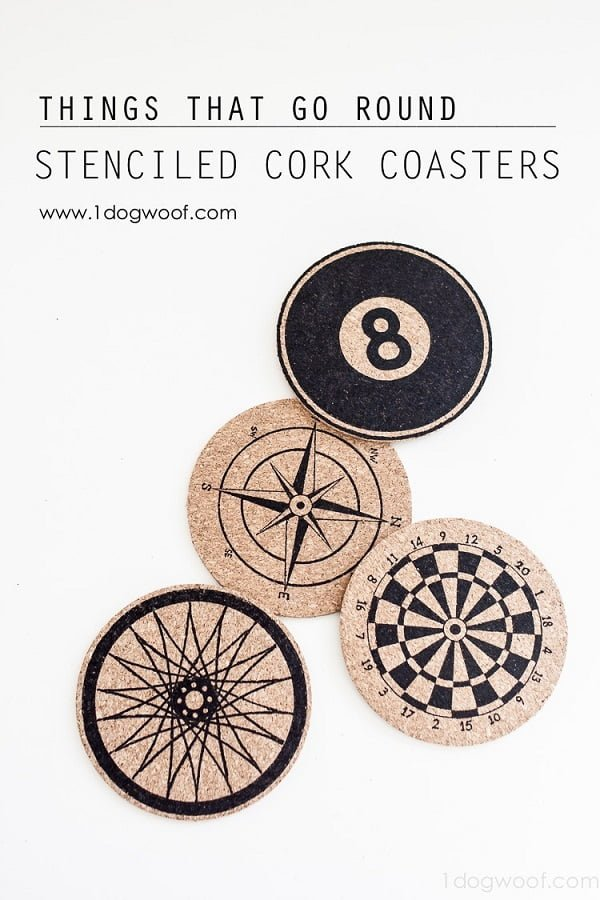 How to make  stenciled cork coasters