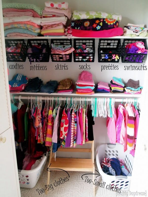 How to make  closet under the shelf storage