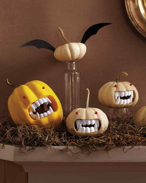 How to make  vampire pumpkins for Halloween