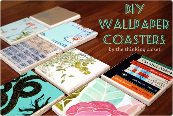 How to make  wallpaper coasters
