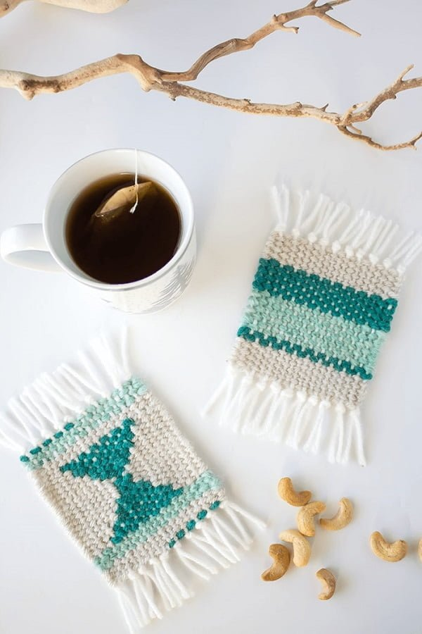 How to make  woven coasters