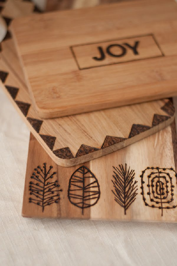 How to make a etched DIY cutting board #DIY #homedecor