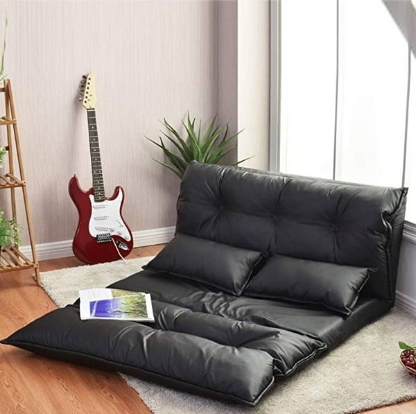 Giantex leather floor sofa