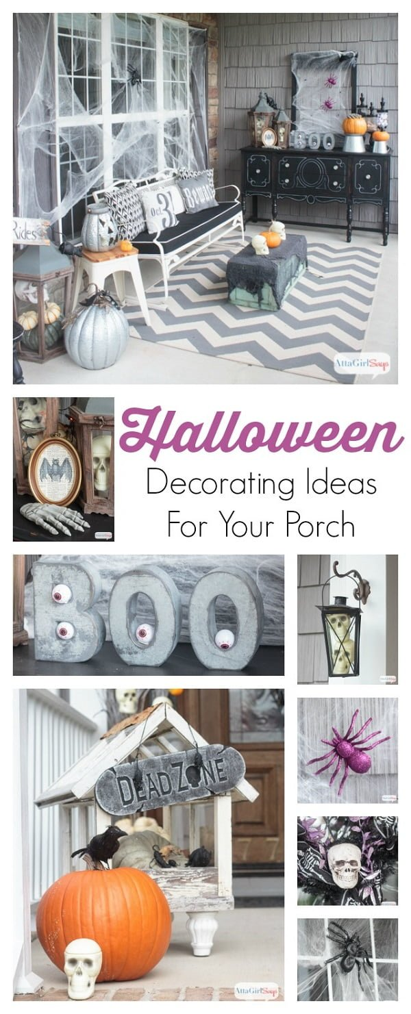 Scary outdoor  decoration ideas for porch