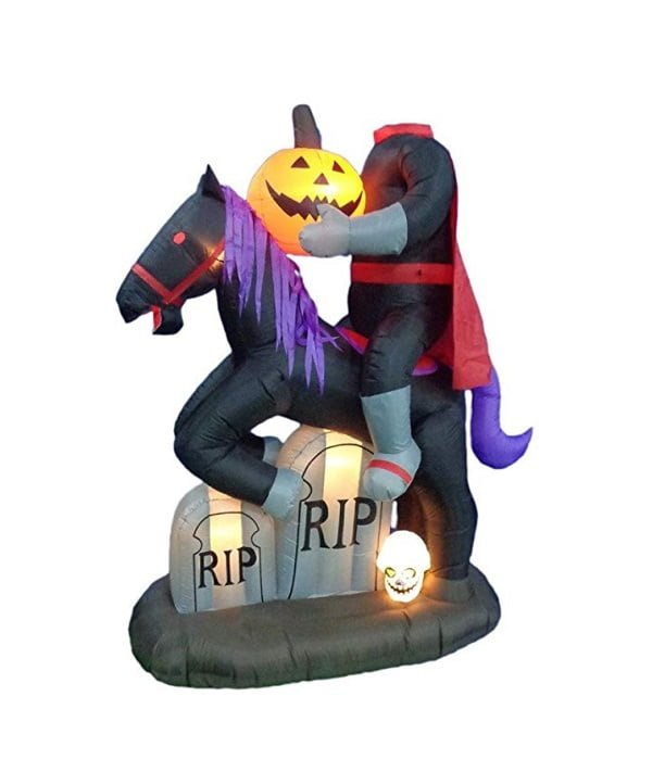 Headless Horseman Halloween inflatable
