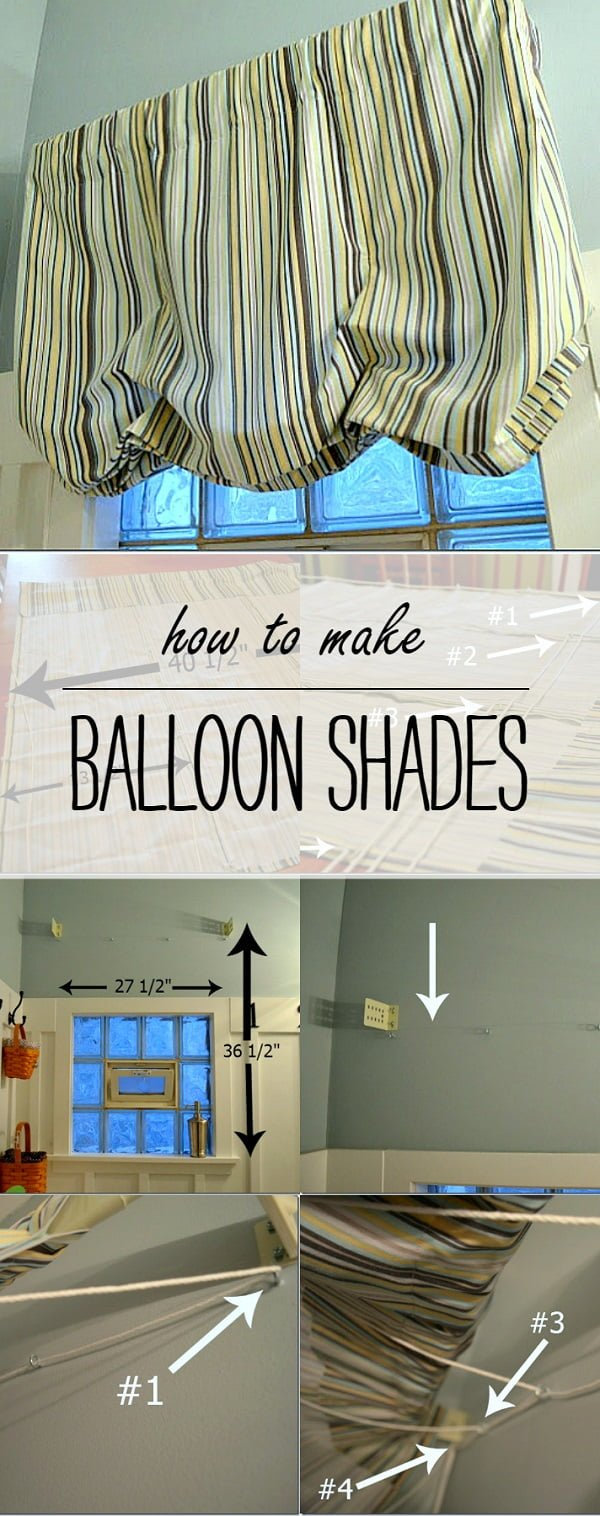 How to make  balloon Roman shades