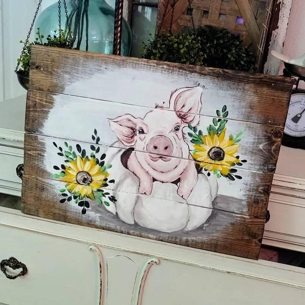 Kitchen pallet art decor ideas