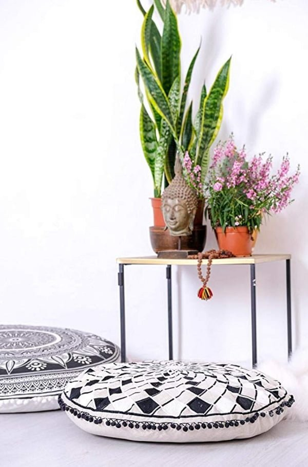 Mandala Life Bohemian large floor pillow