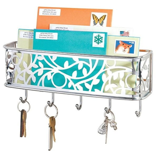 mDesign mail and key holder wall organizer