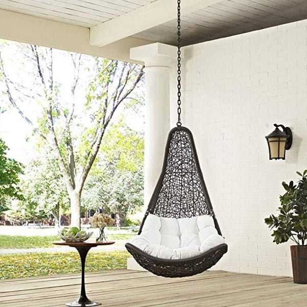 Modway Abate outdoor patio teardrop swing chair