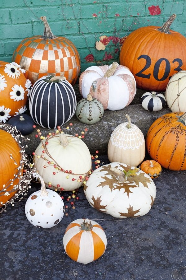 No carve pumpkin ideas for