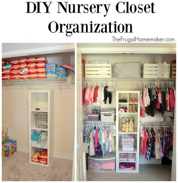 How to make  nursery closet organizer