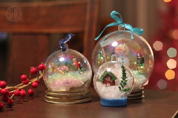 How to make an ornamental  snow globe