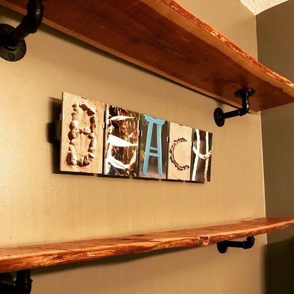 Pallet art shelves