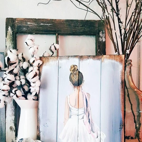 Pallet wall art decor idea