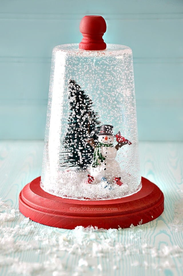 How to make a plastic cup  snow globe