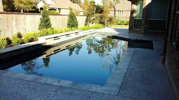 Measuring concrete pool deck