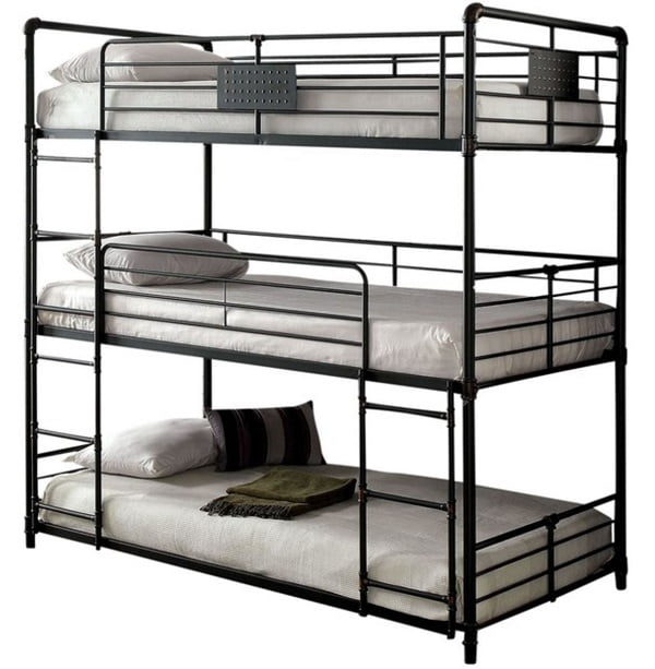 Reston metal triple bunk bed