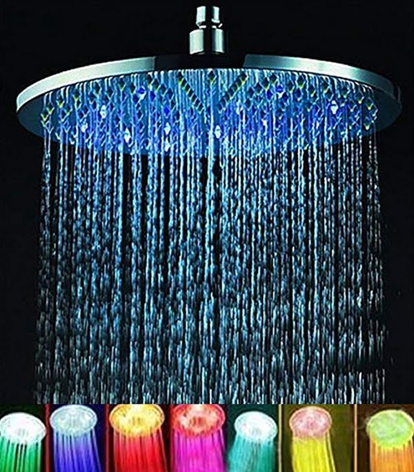 LED rainfall showerhead