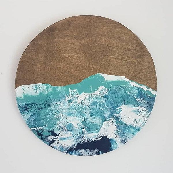 Round pallet art idea #homedecor #rustic