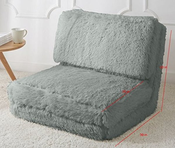 Faux fur floor sofa