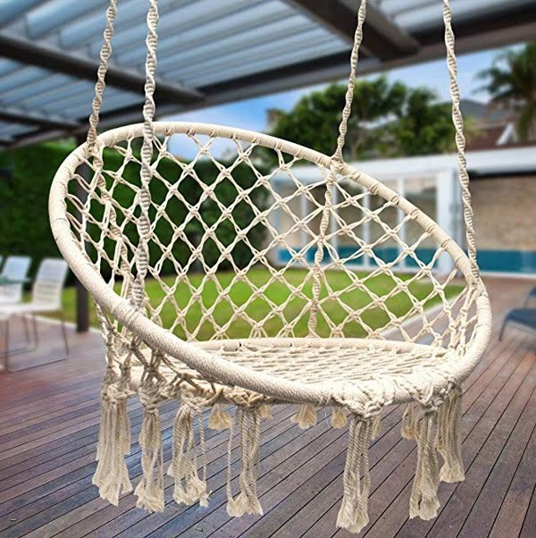 Sorbus macrame hammock swing chair