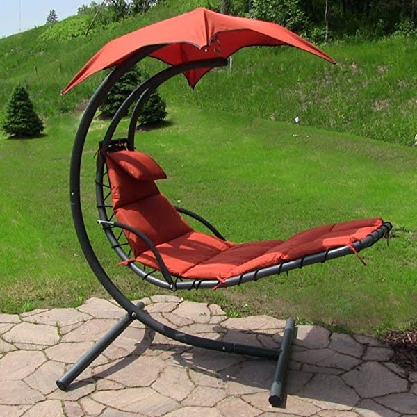 Sunnydaze floating swing chair with canopy