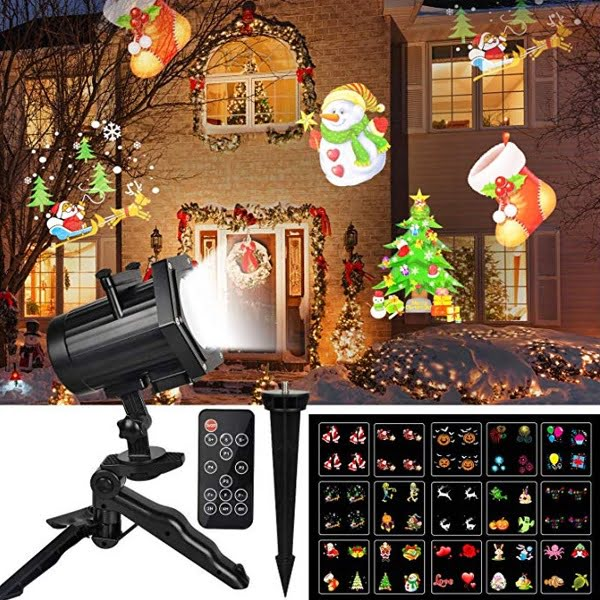 15 Pattern Christmas Light Projector