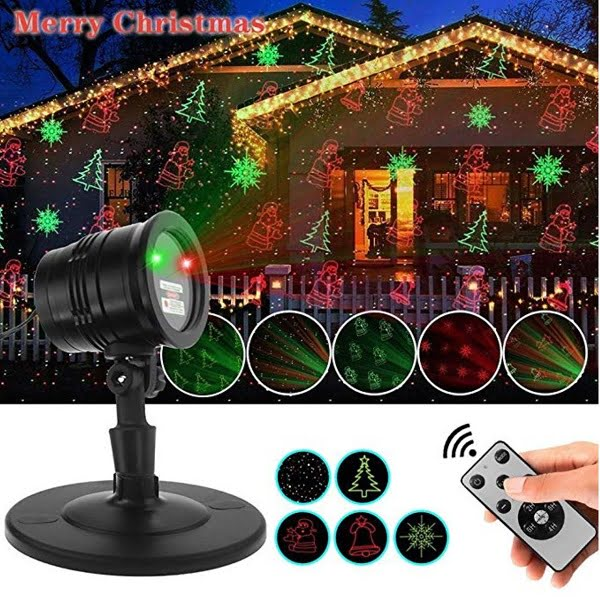 5 Pattern Christmas Laser Light Projector