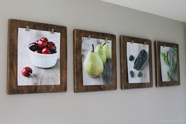 How to make  photo clipboards kitchen wall art