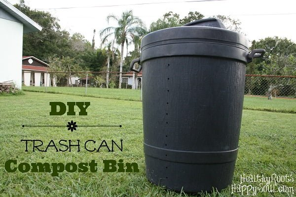 How to make a #DIY trash can compost bin #gardening