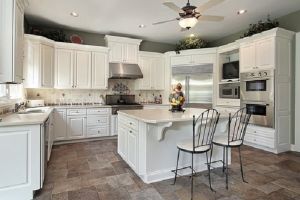 Kota stone kitchen floor tile idea