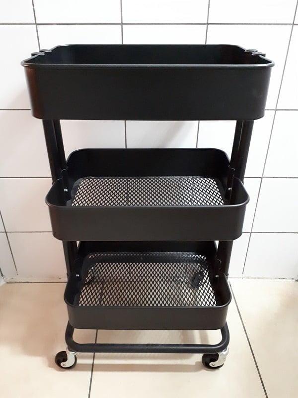 Laundry room rolling cart #organization