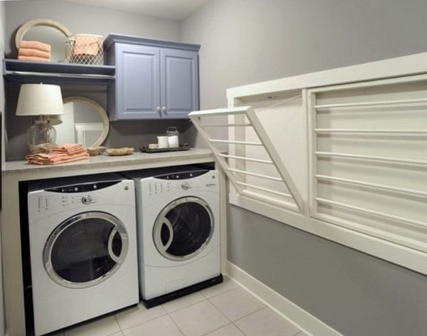 Wall Mounted Drying Rack Laundry Room #Organization