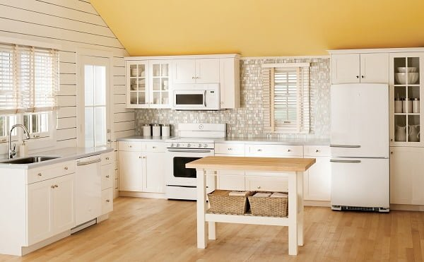 Other Kitchen Vintage Kitchen Ideas With White Wall And