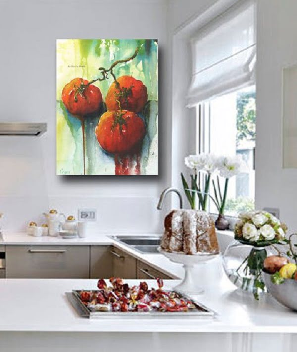 Artist piece kitchen wall art idea