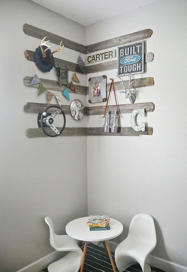 How to make #DIY #rustic barnwood wall gallery #homedecor