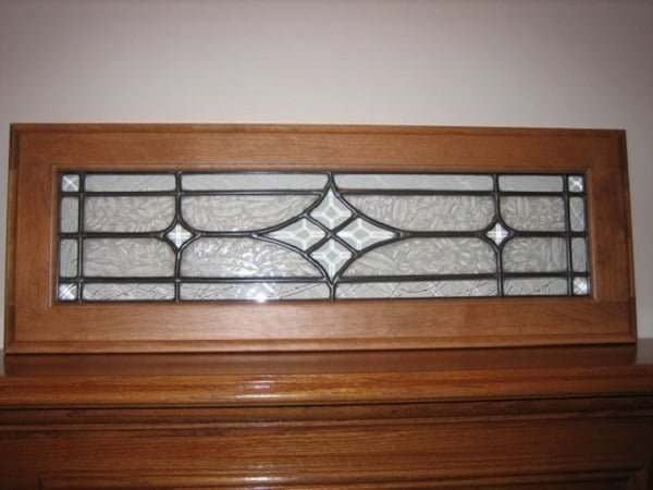 Beveled stained glass cabinet door inserts
