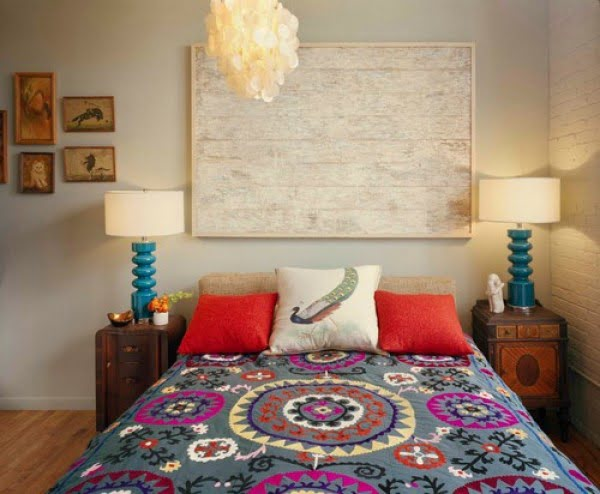 Eclectic boho bedroom