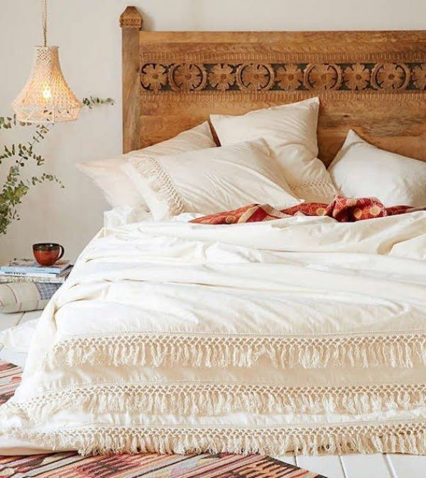 Tassel fringe covers boho bedroom