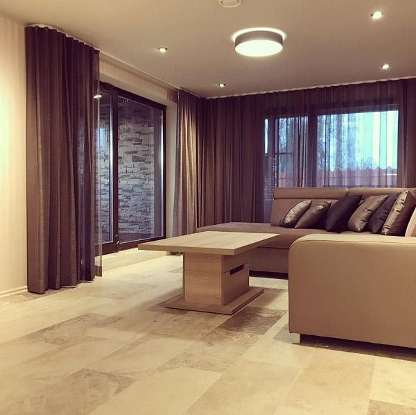 Ceiling to floor modern living room curtains