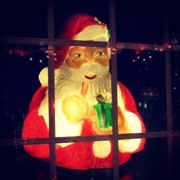 Light Up Santa  Window Decoration
