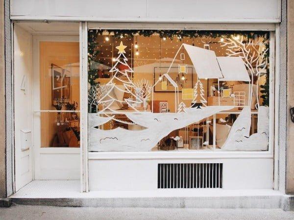 Winter Scene  Window Decoration