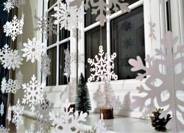 Snowflake garland  window decoration